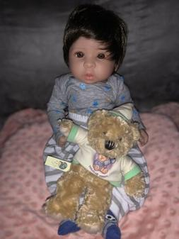 Reborn Baby Doll Boy . 17 inch Weighted Comes With Free Box