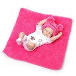 "Reborn Baby Doll Sleeping Girl 10"" Full Vinyl Silicone Reali"