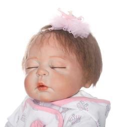 "Reborn Baby Dolls Full Body Vinyl Silicone 18"" Lifelike Doll"
