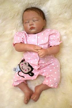 "Reborn Baby Dolls Girl Lifelike Realistic Silicone Vinyl 22"""