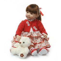 "Reborn Baby Dolls Realistic Toddler Baby Silicone Vinyl 24"""