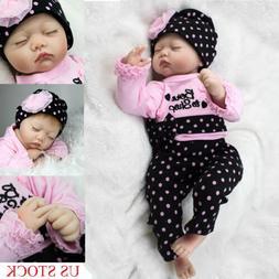 Reborn Baby Toy Newborn Lifelike Silicone Vinyl Sleeping Gir