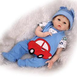 NPK 22inch 55cm Realistic Newborn Reborn Baby Doll Red Car P