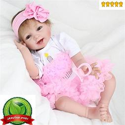 "NPK Reborn Baby Doll Girl Real Looking Silicone Vinyl 22"" We"