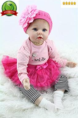 """Reborn Baby Doll Girl Realistic Silicone Vinyl 22"""" Weighted"""