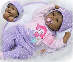 Reborn Baby Dolls African American Girl Black Baby Realistic