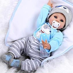 NPK Reborn Baby Dolls 22 inch 55 cm Magnetic Pacifier Soft S