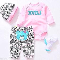 """Reborn Baby Dolls Clothes Pink Outfits for 20""""- 22"""" Reborn D"""
