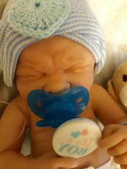 REBORN FIRST TEARS BABY REAL BOY PREEMIE  MORE AFFORDABLE ta