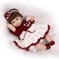 "Reborn Silicone Baby Girl Doll 17"" Cheap Reborn Babies Purpl"