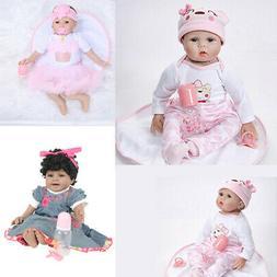 Reborn Toddler Baby Doll Artificial Girl 22 Inch Vinyl Silic