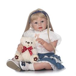 """Decdeal 28"""" Reborn Baby Toddler Doll, Like Real Life Newborn"""