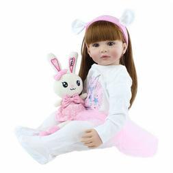 "Reborn Toddler Dolls Girl 24"" Handmade Weighted Reborn Dolls"