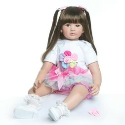 """Reborn Toddler Girl Real Looking 24"""" Weighted Silicone Rebor"""