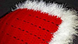 Red And White Hand Crochet Blanket For The American Girl Dol