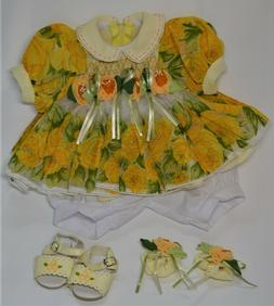 """Retired Original Adora Outfit ~ Yellow Rose Dress ~ 20"""" Doll"""