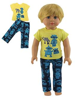 "Robot Pajamas | Fits 18"" Doll 
