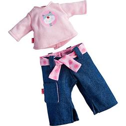 "HABA Rosanna Outfit for 12"" Soft Dolls - Denim Jeans, Long S"