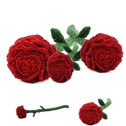 rose flower love handmade amigurumi stuffed toy