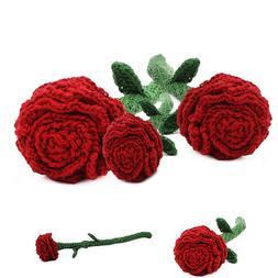 Rose Flower Love Handmade Amigurumi Stuffed Toy Knit Hand Cr
