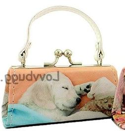 Sacked Out Pup Purse Bag White Strap for American Girl Doll