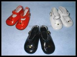"""SAVE 25% on 3 pair of 3-1/2"""" x 1-1/2 inch Patent Doll SHOES"""