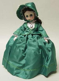 Madame Alexander Scarlett O`Hara 1385 Green Gown Braid Trim