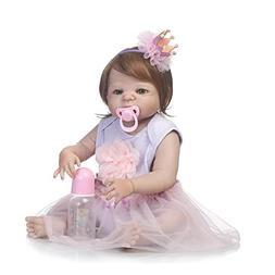 SCDOLL Reborn Baby Dolls Full Silicone Body 22inch 57cm Wate