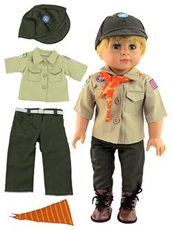 """Boy Scout Outfit for 18 Inch Dolls 