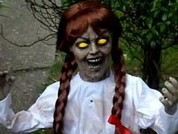 SEE VIDEO! Life Size Animated Annabelle Halloween Prop Doll