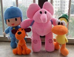 4PC/Set Pocoyo Elly Pato Loula Plush Stuffed Figure Toy Doll