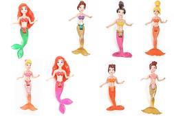 """Set Of 8 Pcs Dolls 3.9"""" 4.3"""" 10 11Cm Tall Mermaids Cartoon F"""