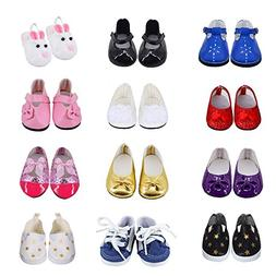 Ebuddy 3pc/Sets Ramdon Style Doll Shoes Accessory For 18 inc