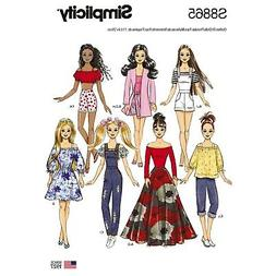 SEWING PATTERN! MAKE 11 1/2 INCH DOLL CLOTHES! FITS BARBIE!