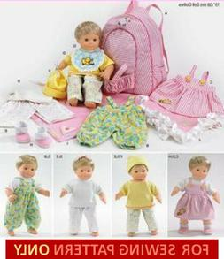SEWING PATTERN! MAKE BITTY BABY/TWINS CLOTHES! DOLL CARRIER~