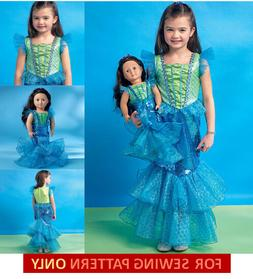 SEWING PATTERN MAKE LITTLE MERMAID COSTUME FOR GIRL & AMERIC