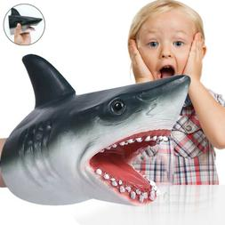 Shark Cartoon Hand Puppet Animal Doll Glove Soft Plush Kids