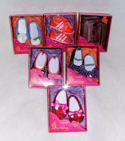 """Our Generation Shoes Boots for 18"""" Dolls Lot of 6 Pairs NEW"""