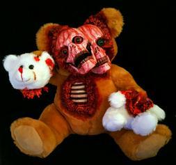 Siamese Skull Zombie Teddy Bear Halloween Decoration Prop Go