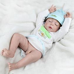 NPK Full Body Silicone Baby Dolls Newborn Reborn Boy Doll An