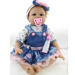 "NPK 22"" Silicone Lifelike Reborn Baby Doll Girl Magnetic Dum"