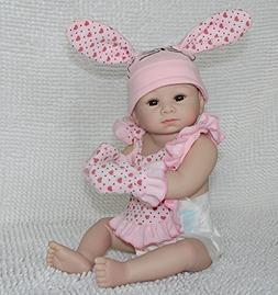 Full Body Silicone Reborn Baby Lifelike Doll Bunny Girl Aliv