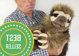 SLOTH Puppet w/ Movable Arms Head Mouth VERY REALISTIC Doll