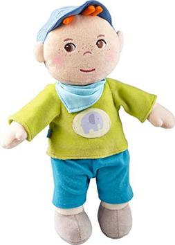 "HABA Snug up Jonas - 11.5"" Soft Boy Baby Doll with Embroider"