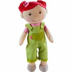 "HABA Snug Up Dorothea - 10"" Soft Doll with Fuzzy Red Hair, E"