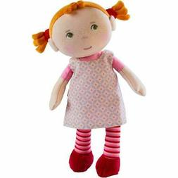 "HABA Snug Up Roya - 10"" Soft Doll with Fuzzy Red Pigtails, E"
