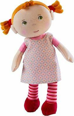"HABA Snug Up Roya - 10"" Soft Doll with Fuzzy Red Pigtails,"