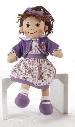 "Soft Cloth Doll, 14"" with Removable Clothing, Embroidered Fa"