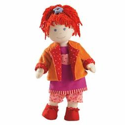 "HABA Soft Doll Lotta 15"" with Red Hair Blue Eyes and Freckle"