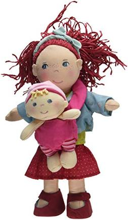 "HABA Soft Doll Pair - 12"" Rubina with Red Hair & Freckles an"